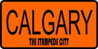 Calgary The Stampede City Photo License Plate