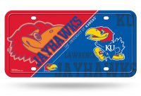 Kansas Jayhawks Metal License Plate