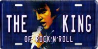 Elvis The King Metal License Plate