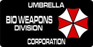UMBRELLA Corporation Bio Weapons Photo License Plate