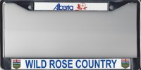 Alberta Wild Rose Country Photo License Plate Frame