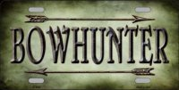 Bowhunter Metal License Plate