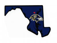 Baltimore Ravens Home State Vinyl Sticker