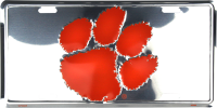 Clemson Tigers Anodized Metal License Plate