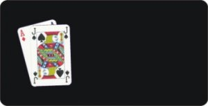 Offset Blackjack PLAYING CARDS On Black Photo License Plate
