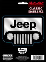 Jeep Chrome Grille Classic Emblem Decal