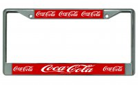 Coca Cola Multiple Logo Photo License Plate Frame