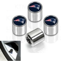 New England Patriots Chrome Valve Stem Caps