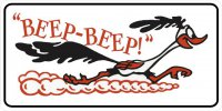 Beep Beep Roadrunner Photo License Plate