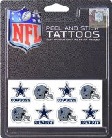 Dallas Cowboys 8-PC Peel and Stick Tattoo Set