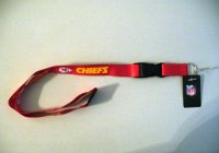 Kansas City Chiefs Lanyard With Neck Safety Latch