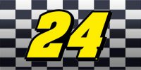 Jeff Gordon #24 Photo License Plate