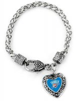 Oklahoma City Thunder Heart Bracelet