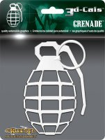3d-Cals Grenade Chrome Plastic Auto Decal