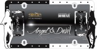 Angel & Devil Black / White License Plate Frame