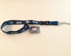 Los Angeles Rams Blue Lanyard With Safety Fastener