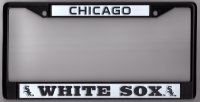 Chicago White Sox Black License Plate Frame