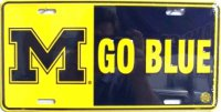 Michigan M Go Blue License Plate