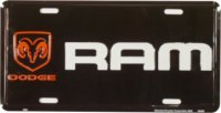 Dodge Ram Black Background License Plate