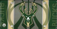 Milwaukee Bucks Metal License Plate