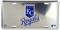 Kansas City Royals Anodized Metal License Plate