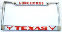 Texas Longhorns Chrome License Frame