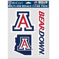Arizona Wildcats 3 Fan Pack Decals