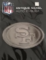 San Francisco 49ers Antique Nickel Auto Emblem