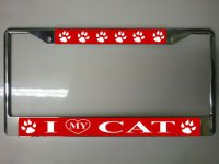 I Heart My Cat License Plate Frame