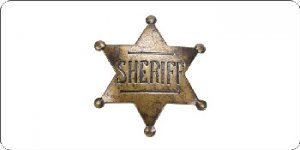 Sheriff Badge Photo License Plate