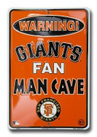 San Francisco Giants Man Cave Parking Sign