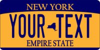 Design It Yourself Custom New York State Look-Alike Plate #5