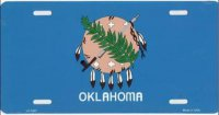 Oklahoma Flag License Plate