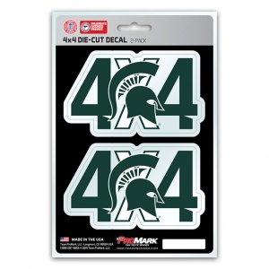 Michigan State Spartans 4x4 Decal Pack