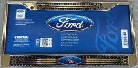 Ford Domed with Center Logo License Plate Frame
