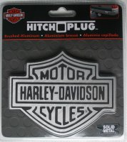 Harley-Davidson Brushed Aluminium Logo Hitch Cover