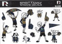 Notre Dame Family Spirit Window Decals