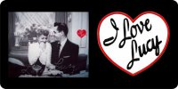 I Love Lucy with Ricky on Black License Plate