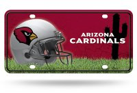 Arizona Cardinals Metal License Plate