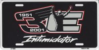 Dale Earnhardt 1951-2001 #3 Intimidator License Plate