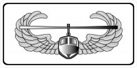 Air Assault White Photo License Plate