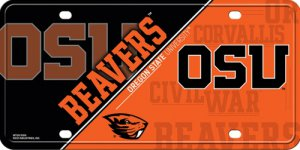 Oregon State Beavers Metal License Plate