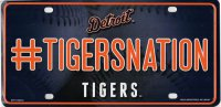 Detroit Tigers #TigersNation Metal License Plate