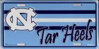 North Carolina Tar Heels Metal License Plate