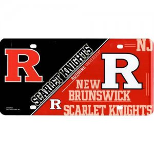 Rutgers Scarlet Knights Metal License Plate