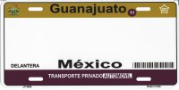 Guanajuato Mexico Look A Like Metal License Plate