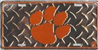 Clemson Diamond License Plate