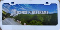 Blank Smooth Heavy Chrome 2 - Hole License Plate Frame