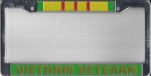 Vietnam Veteran Chrome License Plate Frame