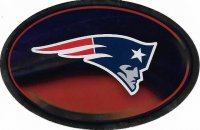 New England Patriots Chrome Die Cut Oval Decal